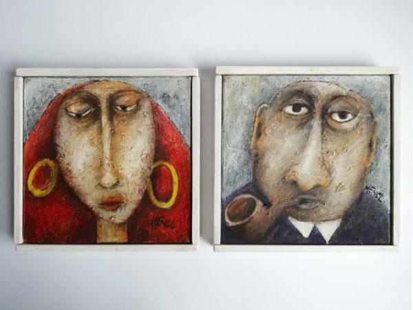 Milan Hencl Portrét slečny a pána