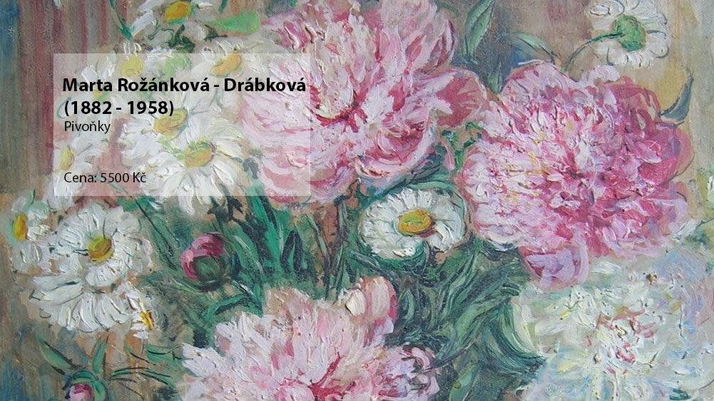obraz Marta Rožánková - Drábková Pivoňky