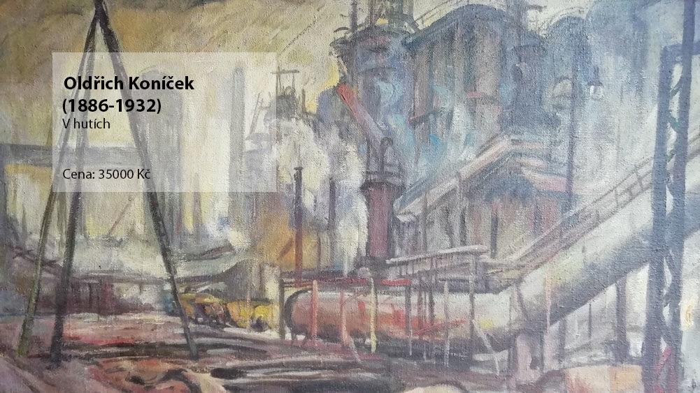 obraz Oldřich koníček - V hutích
