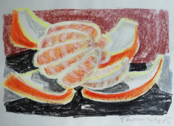A. Paderlík obraz Zátiší s pomerančem