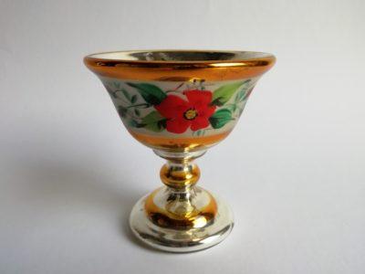 Skleněný pohárek - amalgám