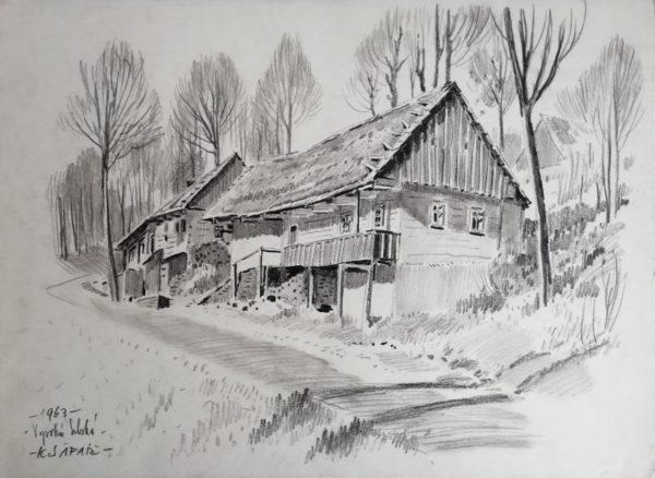 K. Šafář kresba Vysoká Srbská