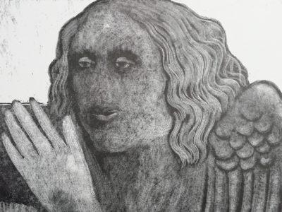 V. Komárek Anděl dřevoryt