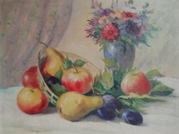 F. Tásler obraz Zátiší s ovocem