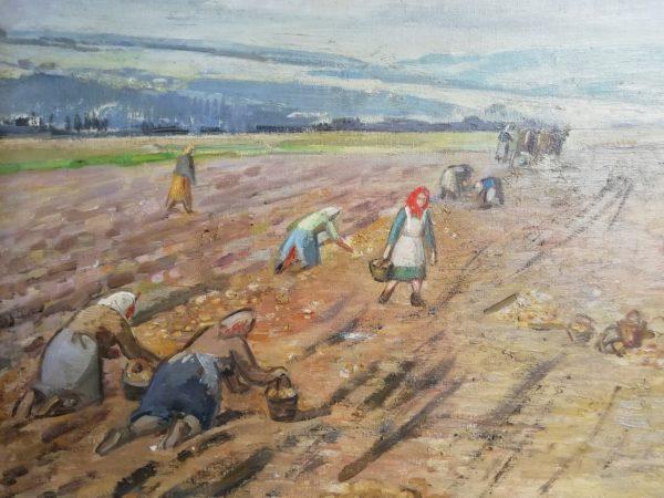 J. Winterová Mezerová obraz Na bramborách
