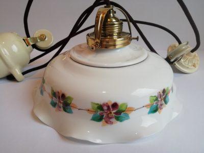 Stahovací lampa - stínidlo s květy