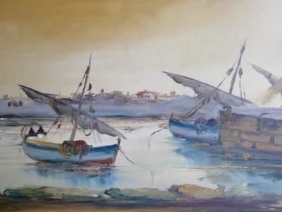 Neznámý autor obraz Bárky v přístavu
