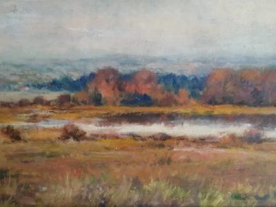 J. Vondráček obraz Podzim u Rovenského rybníka