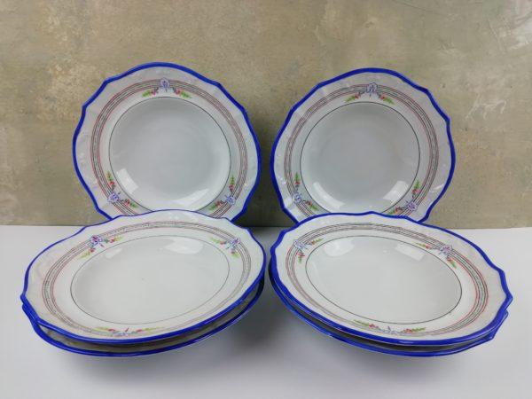 Porcelánové talíře - Rybáře