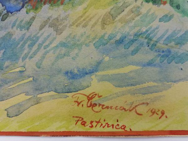 F. Čermák akvarel Pastirica