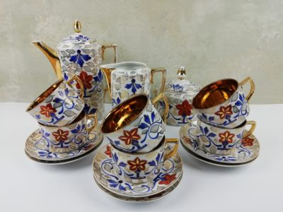 Porcelánový čajový servis - Art Deco