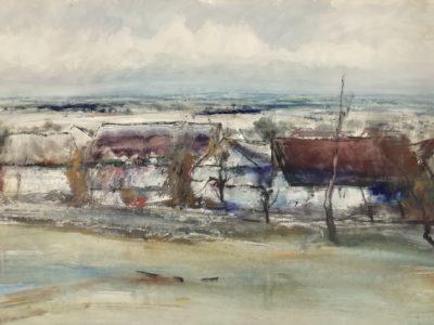 J.Vondráček Zimní krajina s chalupami
