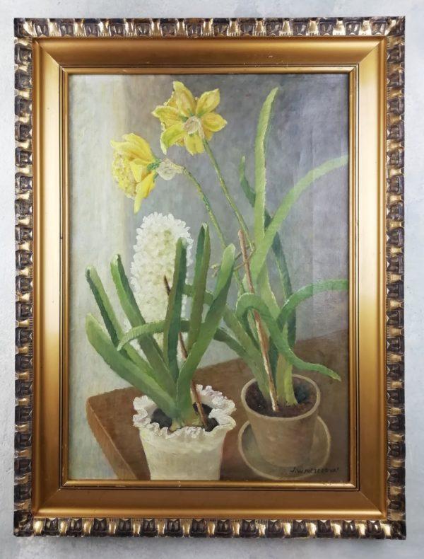 J. Winterová Mezerová obraz Žluté narcisy