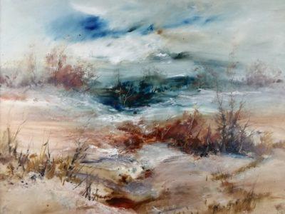 Karel Vondráček obraz Poslední sníh