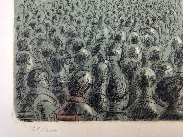 C. Bouda Koncert ve Valdštejnské zahradě grafika mědiryt