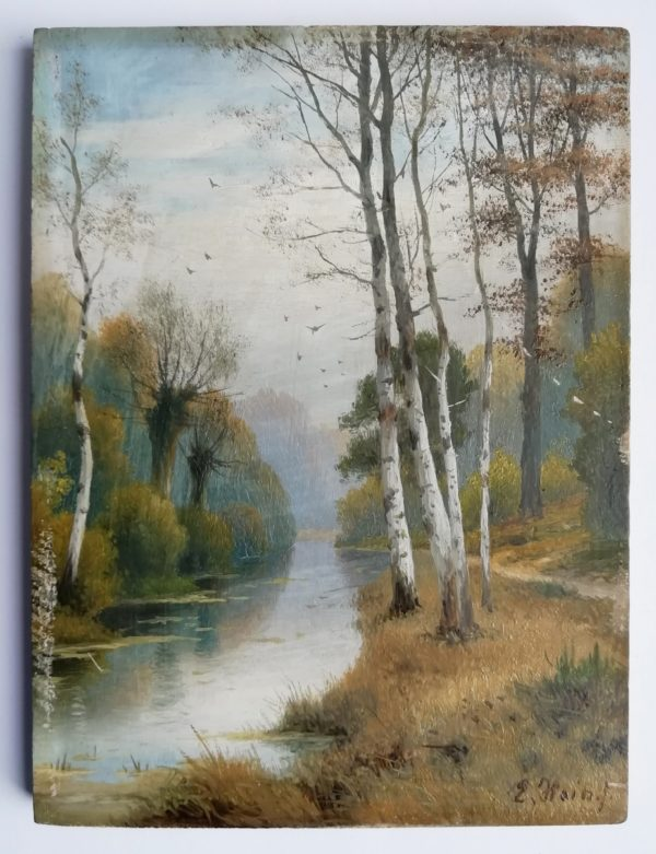 Hein Eduard obraz U řeky