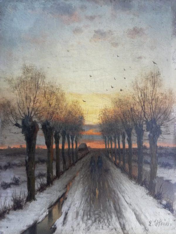 Hein Eduard obraz Zimní podvečer